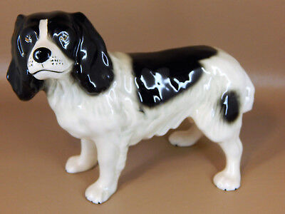"Beswick Black & White Cocker or Spaniel Dog Figurine, 6"" - Excellent Condition"