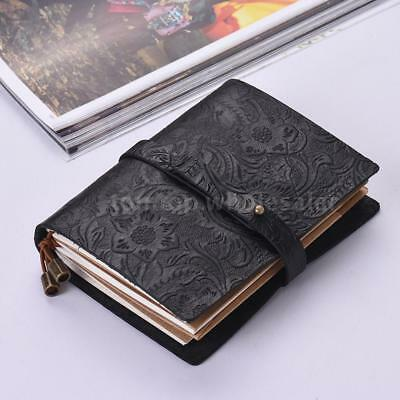 Vintage Leather Notebook Pocket Diary Memo Refillable Notepad Journal Planner