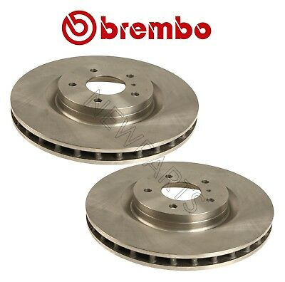 Pair Set of 2 Front Vented HC Disc Brake Rotors 324mm Brembo for Infiniti Nissan