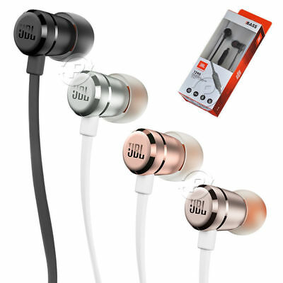 JBL by Harman T290 Aluminium Wired In Ear Headphones Black Silver or Rose Gold