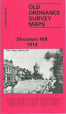 Old Ordnance Survey Map Shooters Hill 1914