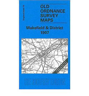 Old Ordnance Survey Map Wakefield & District 1907