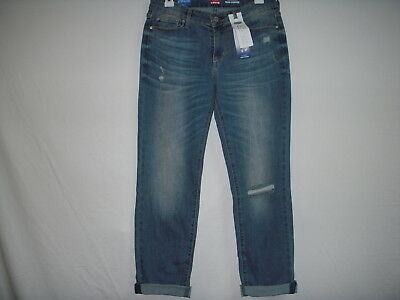 NWT Denizen from Levi's Modern Slim Cuffed Jeans Stretch Mid-Rise - Distressed