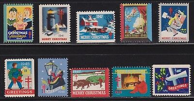 10 Years of Red Cross Christmas Seals , 1940 - 1949 , I Combine S/H