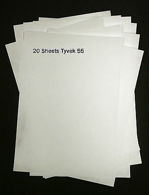 Tyvek A4 55gm - Pack of 20 sheets Tyvek Paper