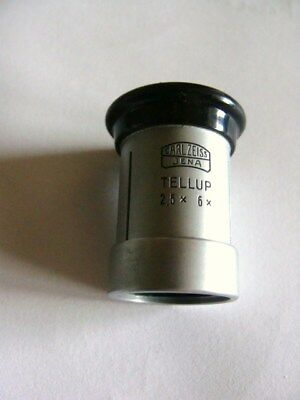 Carl Zeiss Jena  Tellup  Lupe 2,5x 6x   OVP