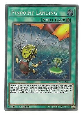 Pinpoint Landing CYHO-EN081 Secret Rare Yu-Gi-Oh Card 1st Edition English New
