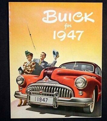 Buick for 1947 GM Color Brochure Post-World War II Fireball Dynaflash Eight