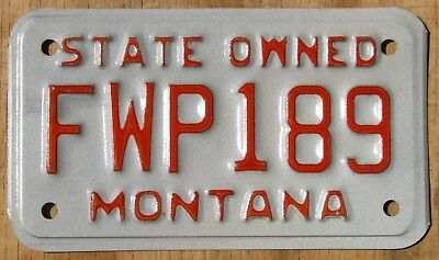 MONTANA MOTORCYCLE FISH and GAME license plate  1990s  FWP189