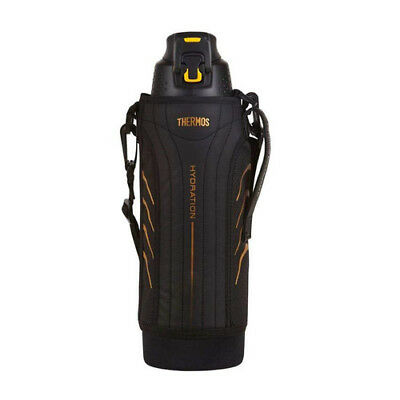 BLACK THERMOS S/S 1.5L Vacuum Insulated Hydration Sports Bottle w/ Carry Pouch