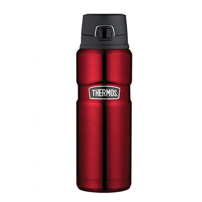 RED THERMOS King S/Steel Vacuum Insulated Bottle w/ Flip Lid