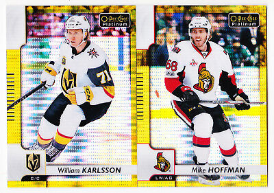 17-18 OPC Platinum Mike Hoffman /50 SEISMIC GOLD OPEECHEE Senators 2017