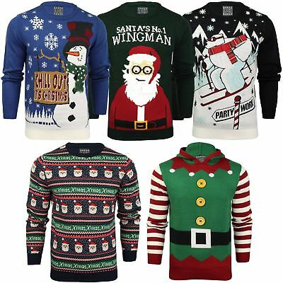 9237e09ab4b0 SEASON S GREETINGS CHRISTMAS Jumper Novelty Xmas Knitwear Pullover ...