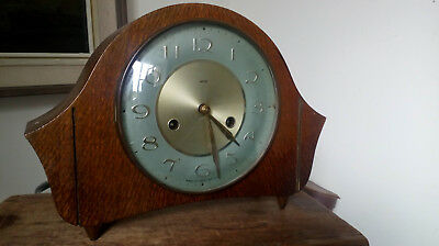 "Beautiful Vintage wooden Smiths Mantle clock 11.5"" x 8.25"" x 4"""