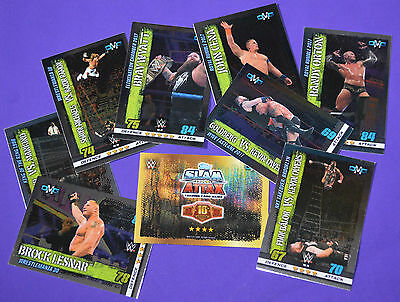 Topps WWE SLAM ATTAX 10th Edition -SELECT YOUR- OMG (wrestling) cards