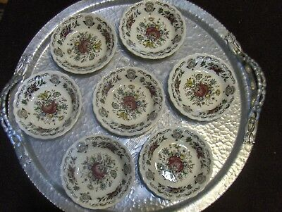 7 Myotts England Staffordshire Bouquet Small Berry Fruit Bowls