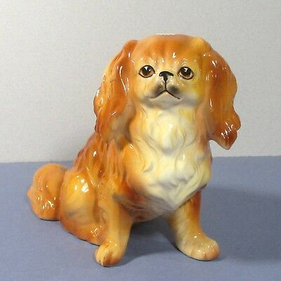 "Pekingese china/ceramic dog figure Ucagco Japan 4.25""x5 ᵛ"