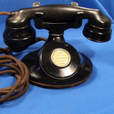 WESTERN ELECTRIC 202 Manual Telephone with Cloth Cords on