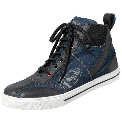 Held Norris Motorcycle Shoes Lace-Up Shoes Black Blue B-Ware