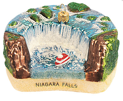 Niagara Water Falls New York Canada Travel Christmas Tree Ornament Poland 110151