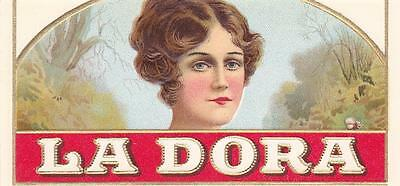 La Dora Outer Cigar Box Label Heavily Embossed J. E. Rauh Cigar Co. Milwaukee,Wi