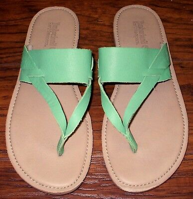 acb5b5537db5 TIMBERLAND Earthkeepers Size 10 Green  Sheafe  Thong Sandals Flip-Flops