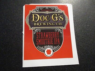 DOC G'S BREWING CO DuBois Pennsylvania STICKER decal craft beer brewery