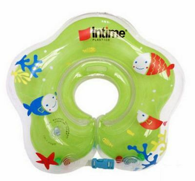 Baby Infant inflatable Swimming Float Neck Ring for Bath/ pool 0-18 Month Green