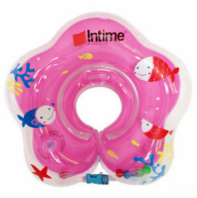Baby Infant inflatable Swimming Float Neck Ring for Bath or pool 0-18 Month Pink