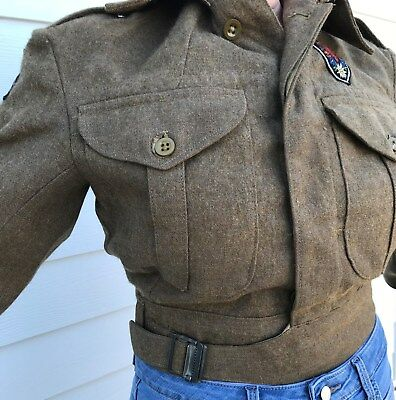 British Battledress Blouse/  7th Armoured Div patches/ Austrian Tirol patch