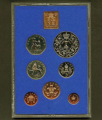 """1977 Great Britain """" Queen's Jubilee """" Proof 7 Coin Set With Medal"""