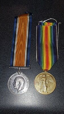20th LONDON REGIMENT MEDALS 5790 PTE. W. BRIER   VICTORY AND SERVICE MEDALS