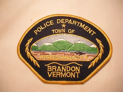 Brandon Vermont Police Department Uniform Patch