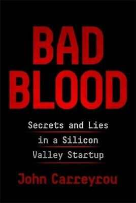 NEW Bad Blood By John Carreyrou Hardcover Free Shipping
