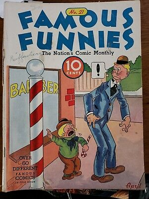 Famous Funnies #21 (Eastern Color) beautiful white pages.  Buck Rogers