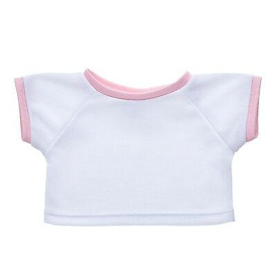 Build A Bear Pink Ringer Tee
