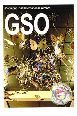 GSO Collectible Airport Trading Card Piedmont Triad International Greensboro NC