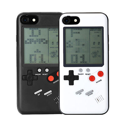 Retro Real Game Console Play Gameboy Tetris Phone Case for iPhone X 6s 7 8 Plus