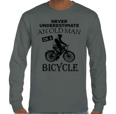 f56fb120 Never Underestimate An Old Man With A Bicycle Mens Funny Cycling T-Shirt  Bike