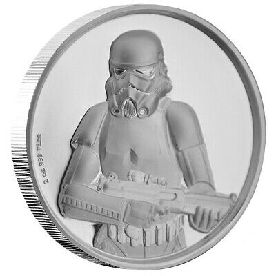 Niue - 5 Dollar 2018 - Star Wars™(4.) Stormtrooper™ - 2 Oz Silber High Relief PP