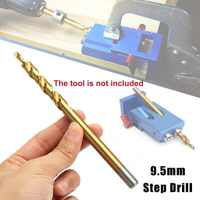 3/8inch 9.5mm Pocket Hole Jig Step Drill Woodworking Joinery For Wood Drilling