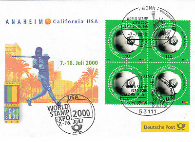 Messebrief 2000 Anaheim USA World Stamp Expo