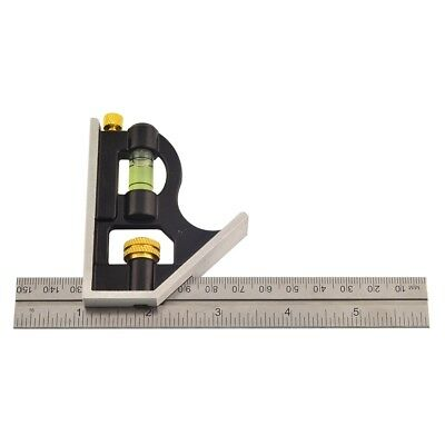 Rolson Mini Combination Square, 150mm - Square Adjustable Sliding Metal Set 6