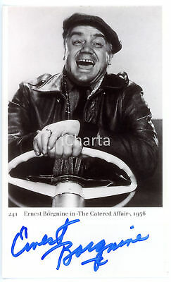 "1956 CINEMA Attore Ernest BORGNINE in ""The catered affair"" *Foto con AUTOGRAFO"