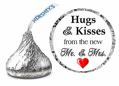 216 Hugs And Kisses Wedding Favors Hershey Kisses Kiss Labels Stickers