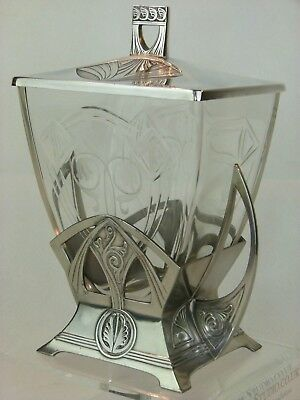 A Fabulous Art Nouveau Secessionist Silver Plated Biscuit Box by WMF