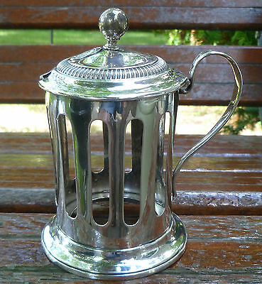 Austro Hungarian 813 Silver Condiment Jar Holder Dated 1831 Austria