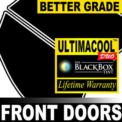 99% Uv + 50X Stronger Precut Front Doors Tint For Ford F-550 Ext 11-12