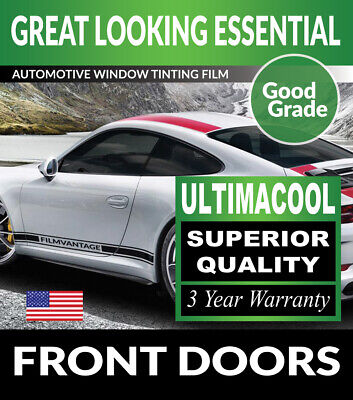 99% Uv + Superior Quality Precut Front Doors Tint For Ford F-550 Ext 11-12