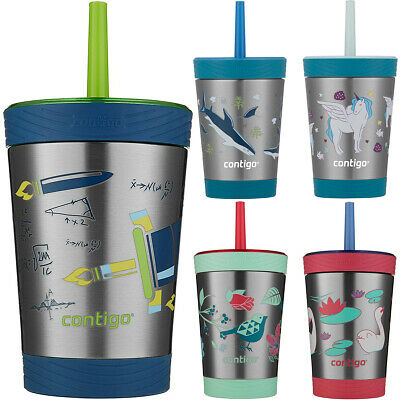 Contigo 12 oz. Kid's Thermalock Spill Proof Stainless Steel Tumbler with Straw